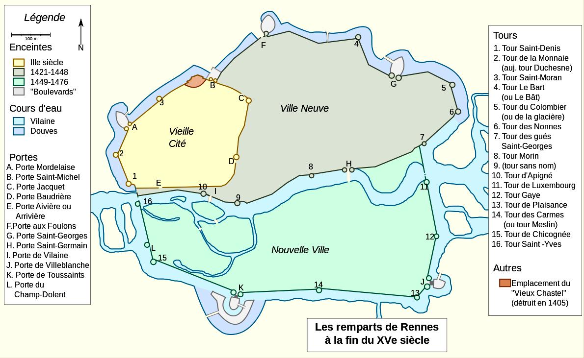 Rennes (Ille-et-Vilaine) A la fin du XVème siècle