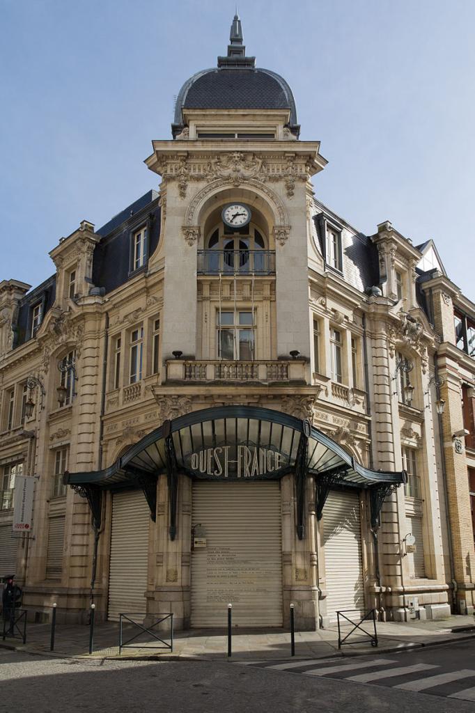 Rennes (Ille-et-Vilaine) L'ancien siège du Journal Ouest France