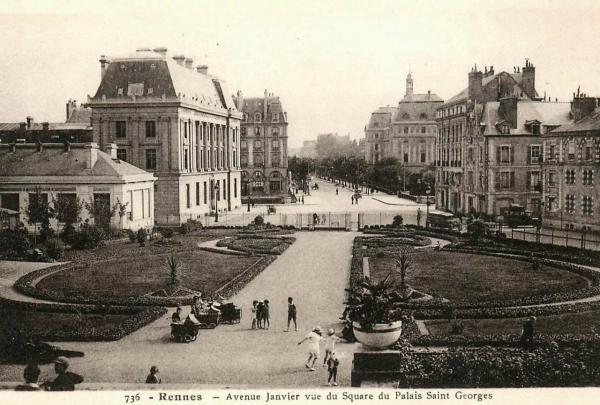 Rennes (Ille-et-Vilaine) L'avenue Janvier CPA