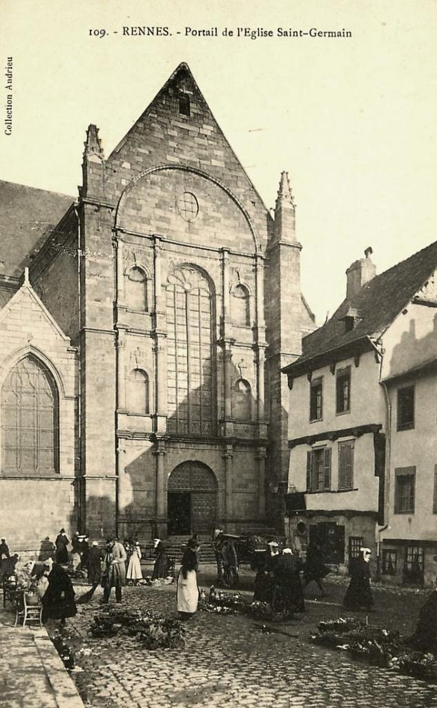 Rennes (Ille-et-Vilaine) L'église Saint-Germain CPA
