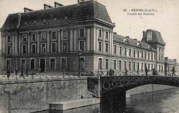 Rennes (Ille-et-Vilaine) La Faculté des Sciences CPA