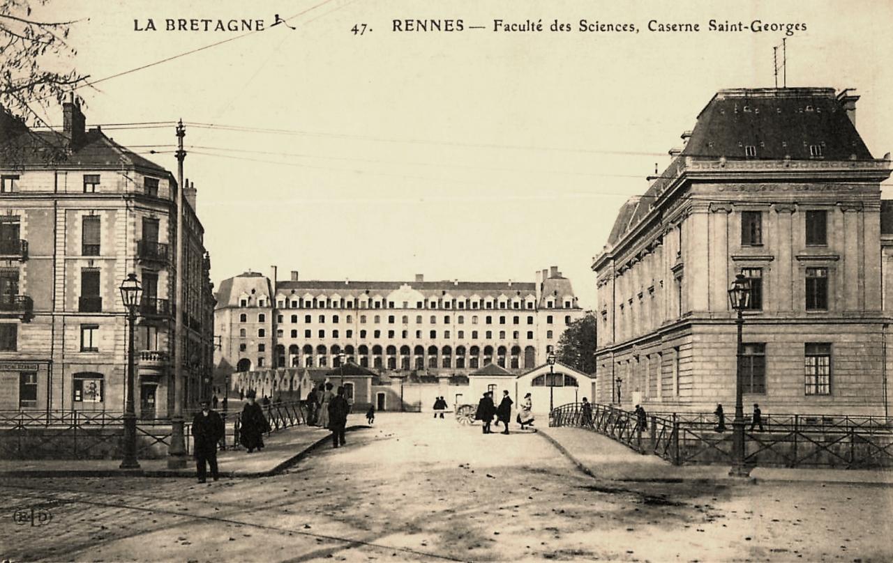 Rennes (Ille-et-Vilaine) La Faculté des Sciences et la caserne CPA