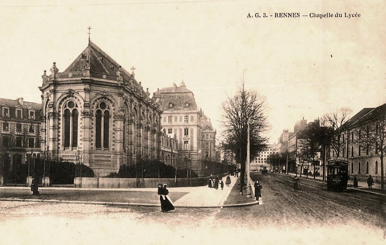 Rennes (Ille-et-Vilaine) La chapelle du lycée CPA