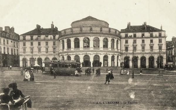 Rennes (Ille-et-Vilaine) Le théâtre-opéra CPA