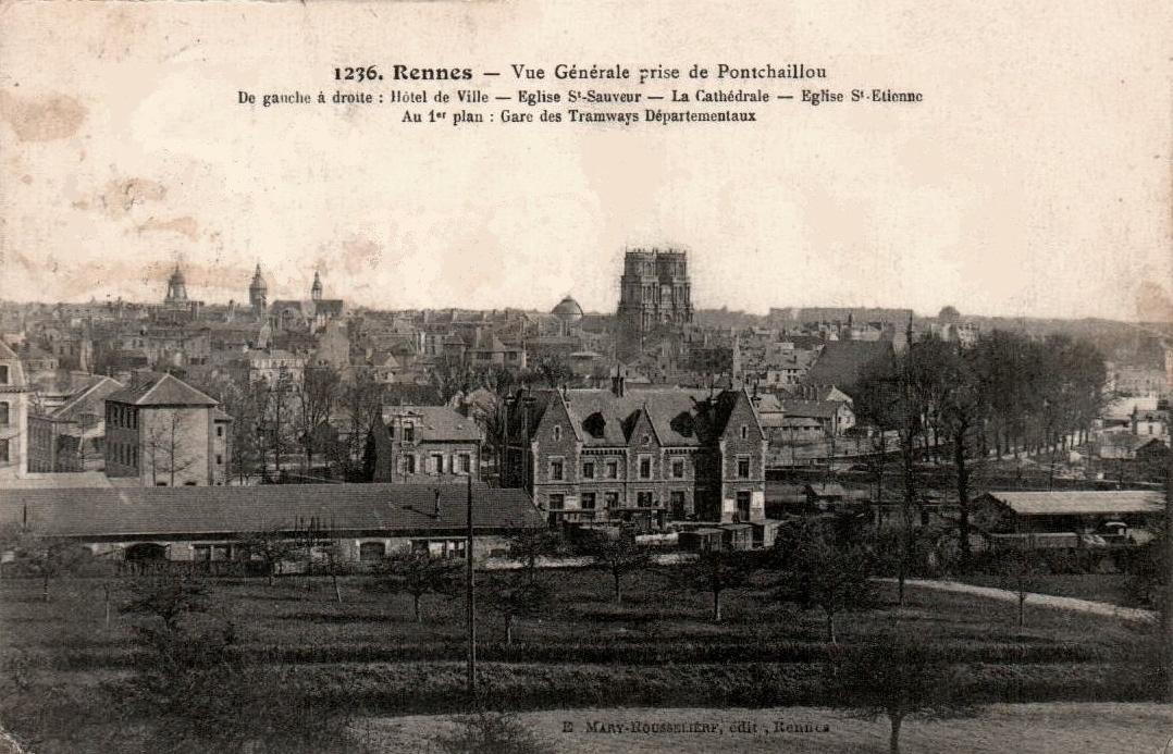 Rennes (Ille-et-Vilaine) Vue générale CPA