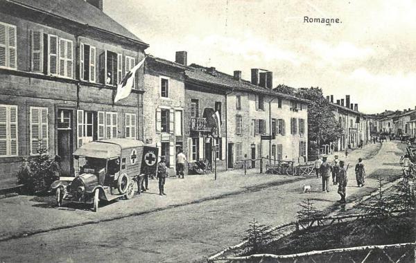 Romagne-sous-Montfaucon (Meuse) 1914-1918, occupation allemande CPA
