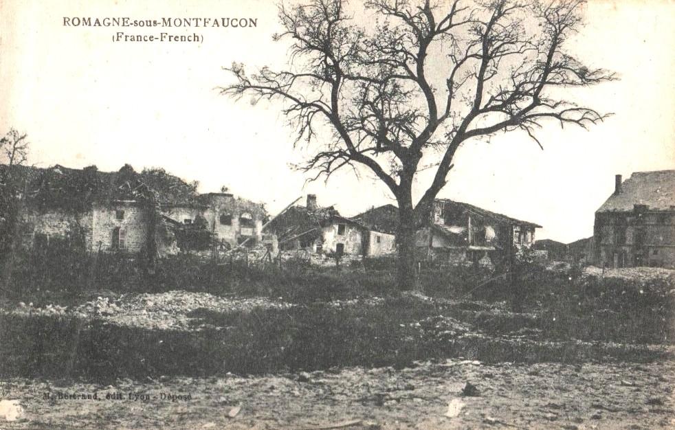 Romagne-sous-Montfaucon (Meuse) 1914-1918, ruines CPA