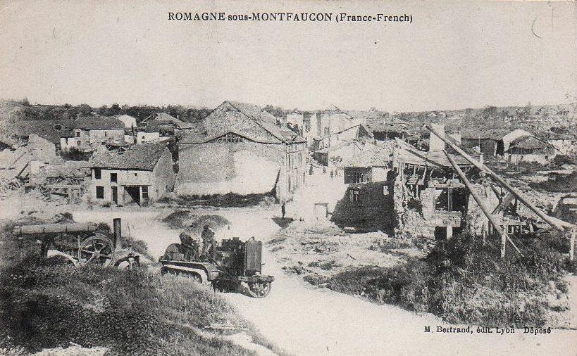 Romagne-sous-Montfaucon (Meuse) 1914-1918, ruines CPA5