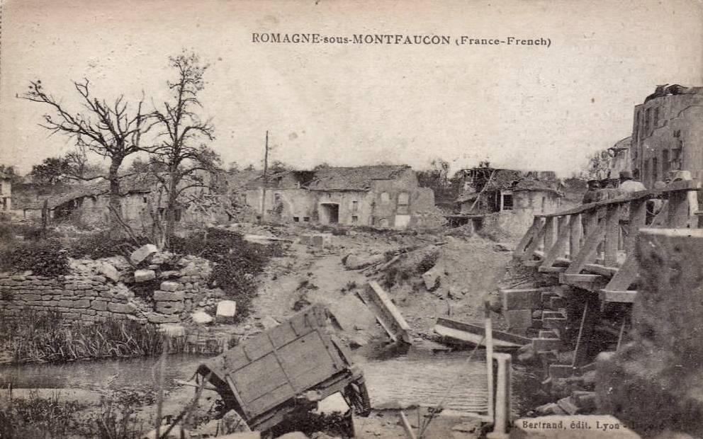 Romagne-sous-Montfaucon (Meuse) 1914-1918, ruines CPA6