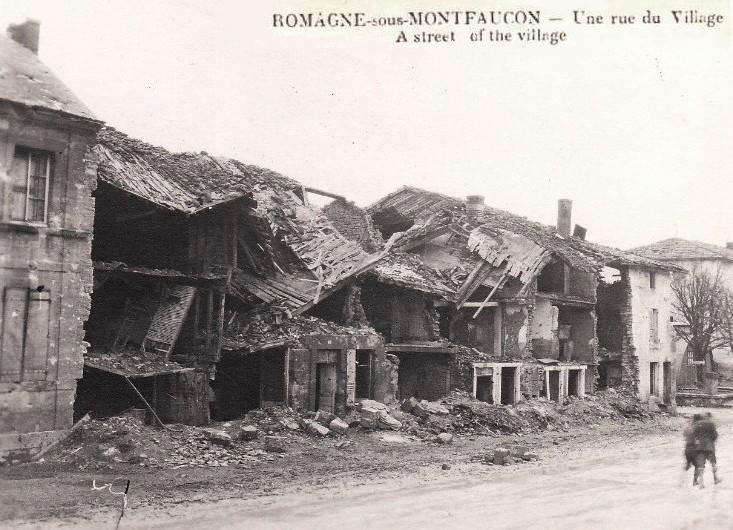 Romagne-sous-Montfaucon (Meuse) 1914-1918, ruines CPA8