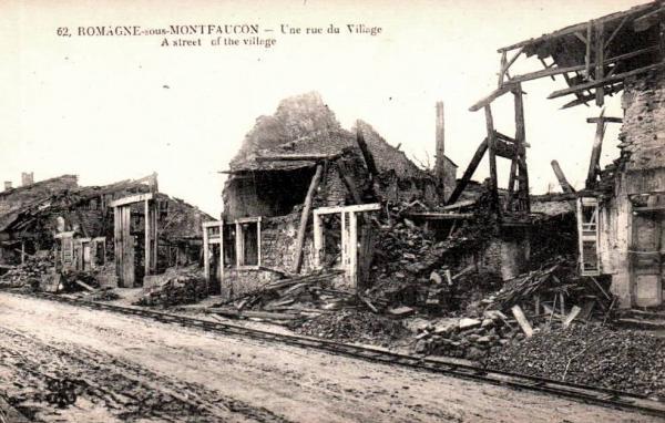 Romagne-sous-Montfaucon (Meuse) 1914-1918, ruines CPA9