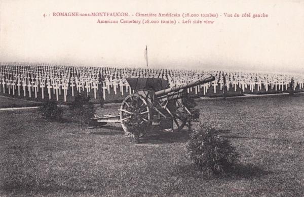 Romagne-sous-Montfaucon (Meuse) Cimetière américain, CPA