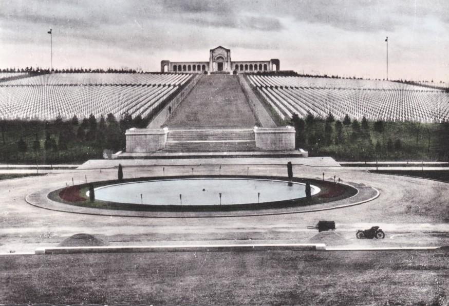 Romagne-sous-Montfaucon (Meuse) Cimetière américain, CPA vers 1950