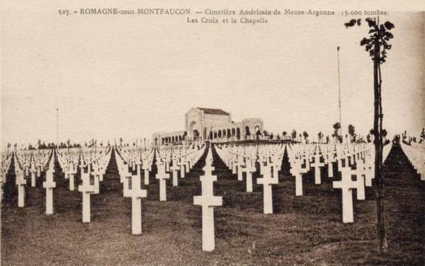 Romagne-sous-Montfaucon (Meuse) Cimetière américain CPA