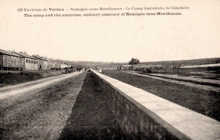 Romagne-sous-Montfaucon (Meuse) Cimetière et camp américain CPA