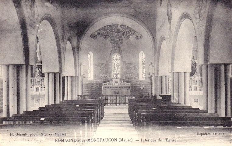 Romagne-sous-Montfaucon (Meuse) L'église Saint Michel CPA