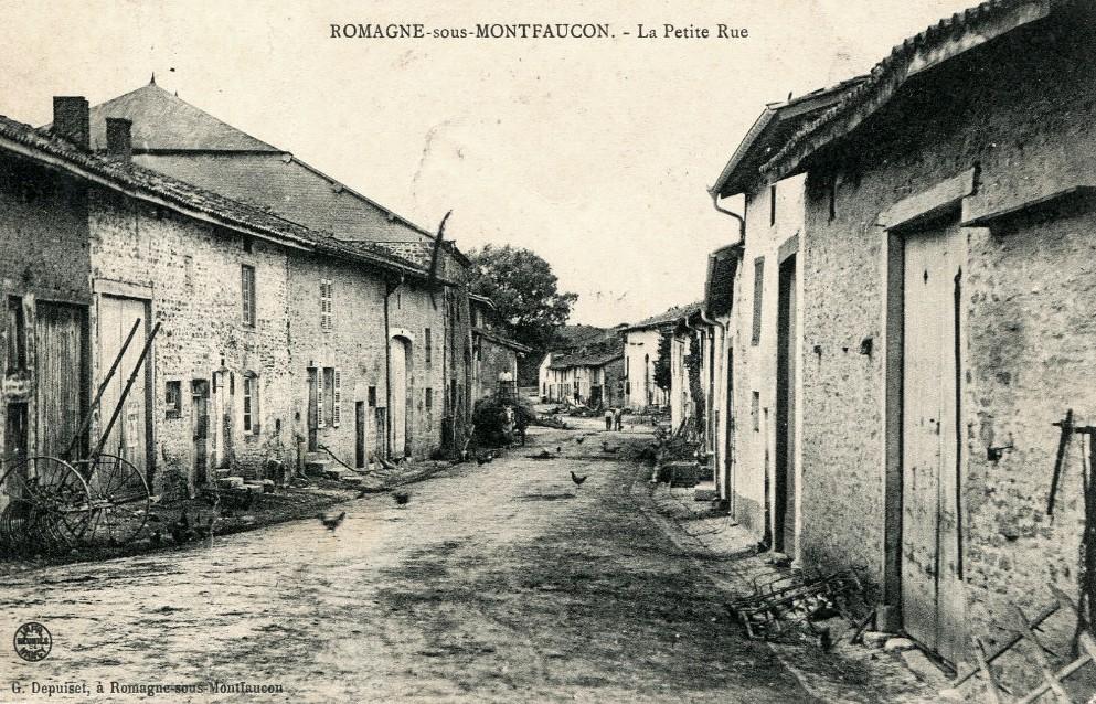 Romagne-sous-Montfaucon (Meuse)  La petite rue CPA
