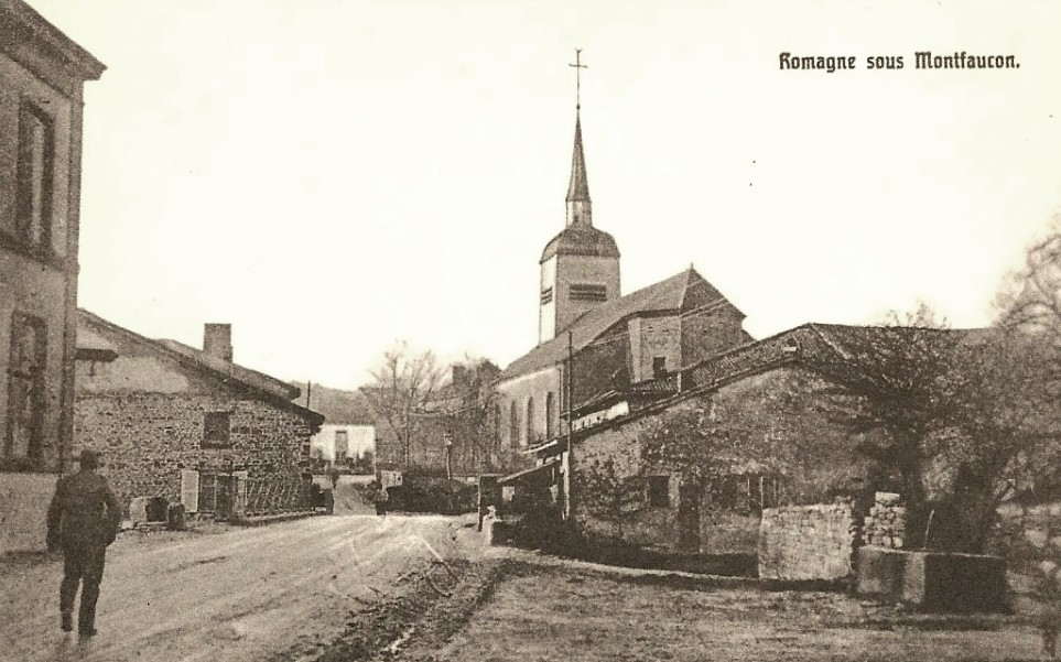 Romagne-sous-Montfaucon (Meuse)  La rue principale CPA5