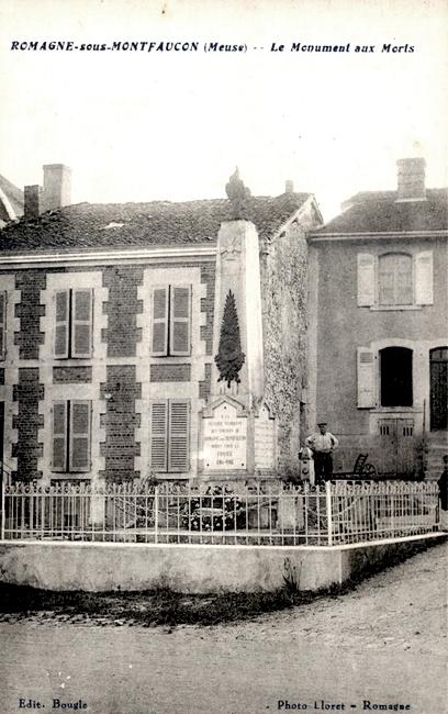 Romagne-sous-Montfaucon (Meuse)  Le monument aux morts CPA