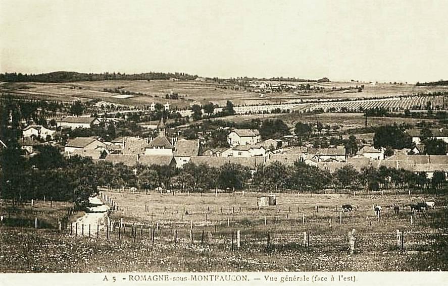 Romagne-sous-Montfaucon (Meuse) Vue générale CPA
