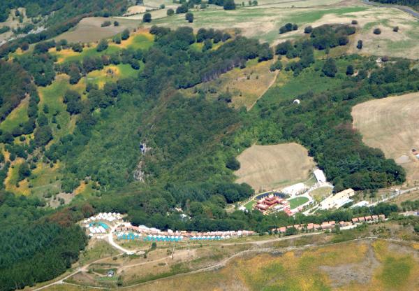 Roqueredonde (Hérault) Le temple en  2011