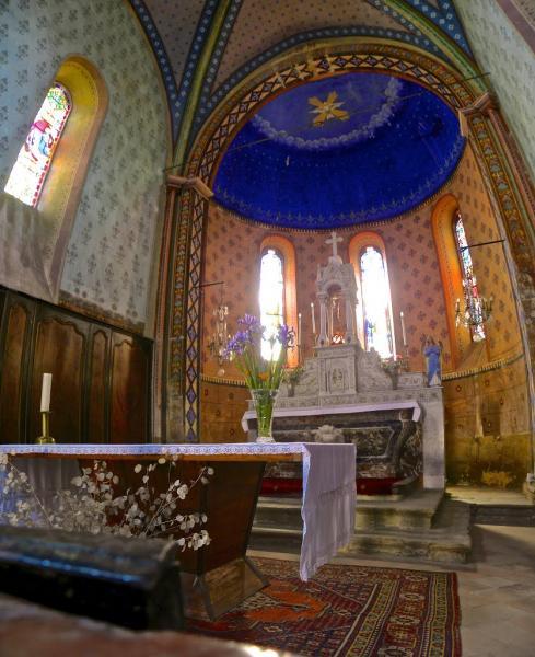 Roquetaillade (Aude) L'église