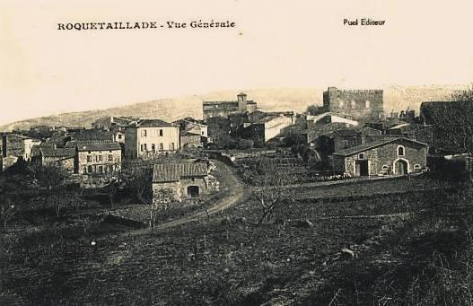 Roquetaillade (Aude) CPA Vue générale