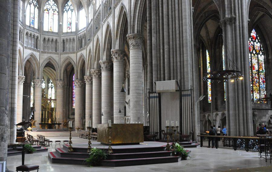 Rouen : La cathédrale Notre-Dame, choeur et abside