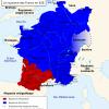 Le Royaume des Francs en 628