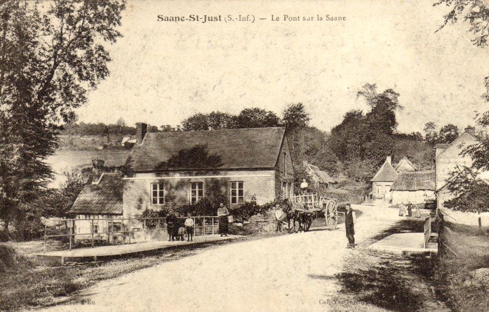 Saâne-Saint-Just (Seine Maritime) Pont sur la Saâne CPA