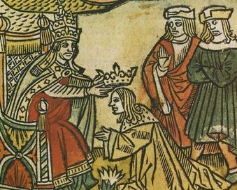 Sacre de Pépin III le Bref par le pape Etienne II