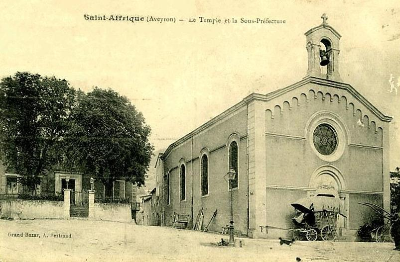 Saint-Affrique (Aveyron) CPA le temple
