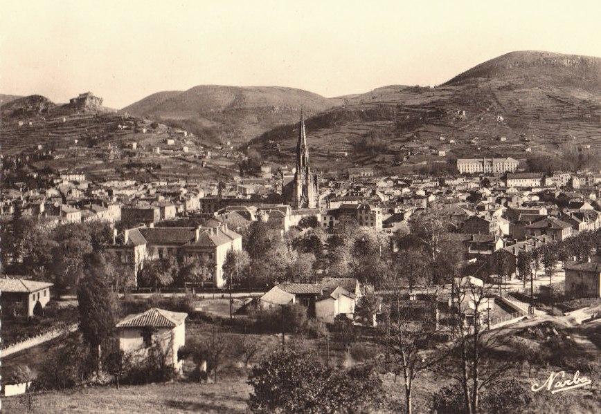 Saint-Affrique (Aveyron) CPA Vue générale