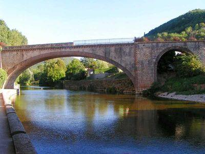 Saint-Affrique (Aveyron) le pont ferroviaire