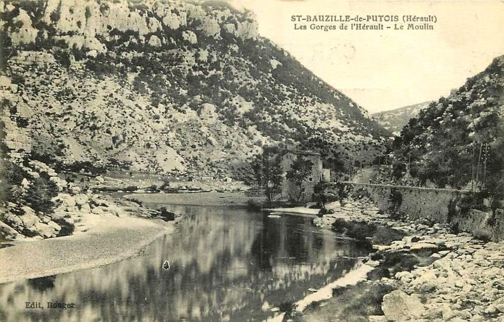 Saint-Bauzille-de-Putois (Hérault) Le moulin CPA