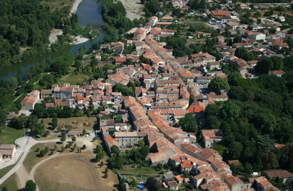 Saint-Bauzille-de-Putois (Hérault) Vue aérienne