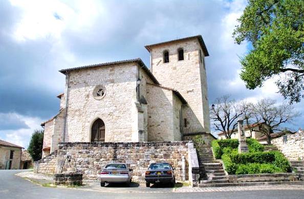 Saint-Beauzile (Tarn) l'église Saint-Jean-Baptiste