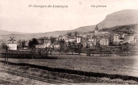 Saint-Georges-de-Luzençon (Aveyron) Vue générale en 1910