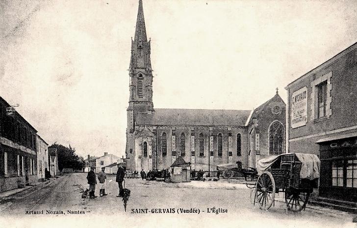Saint-Gervais (Vendée) L'église CPA