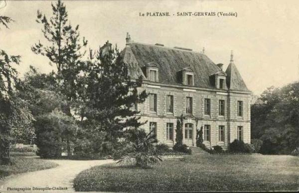 Saint-Gervais (Vendée) Le château du Platane CPA