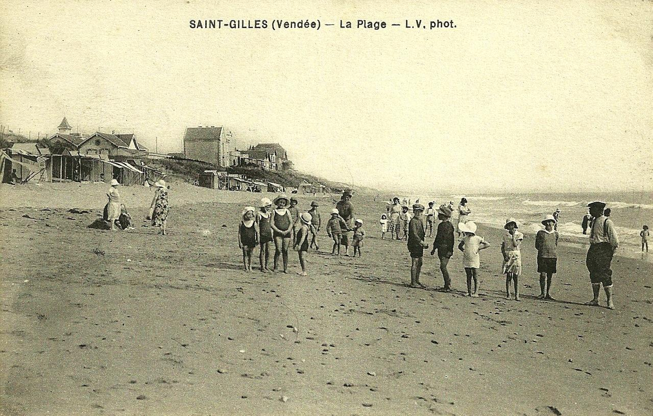 Saint-Gilles-Croix-de-Vie (Vendée) La plage CPA