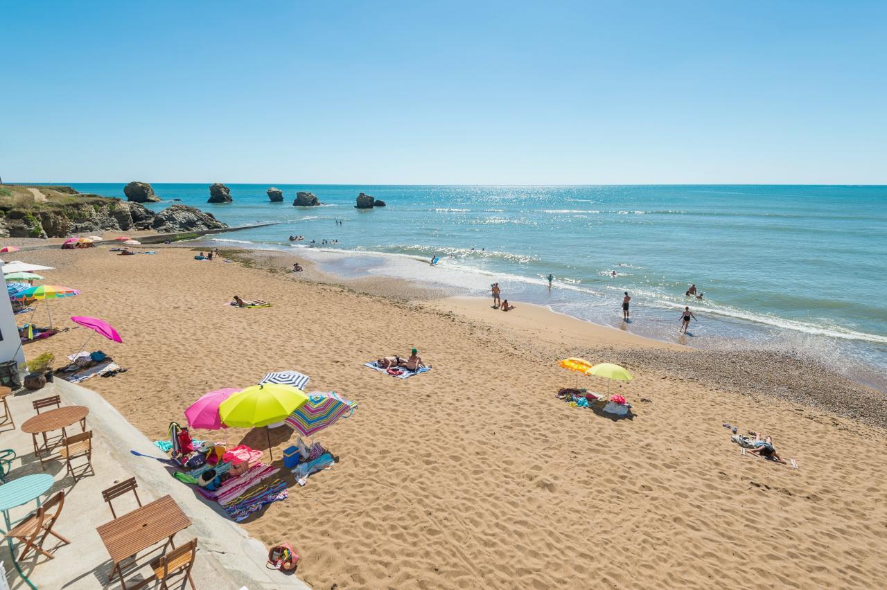 Saint-Hilaire-de-Riez (Vendée) La plage des 5 Pineaux