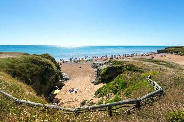 Saint-Hilaire-de-Riez (Vendée) La plage des Bussoleries