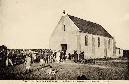 Saint-Hilaire-de-Riez (Vendée) Sion-sur-l'Océan, La chapelle CPA