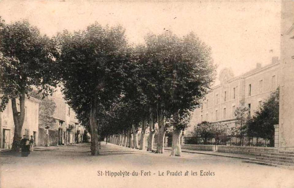 Saint-Hippolyte-du-Fort (Gard) CPA Le Pradet et les écoles
