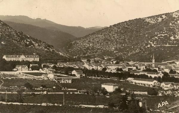 Saint-Hippolyte-du-Fort (Gard) CPA Vue générale