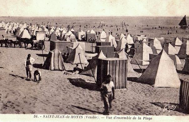 Saint-Jean-de-Monts (Vendée) La plage CPA