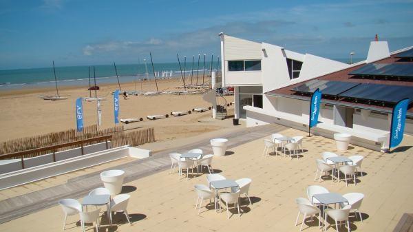 Saint-Jean-de-Monts (Vendée) La plage du Club Nautique
