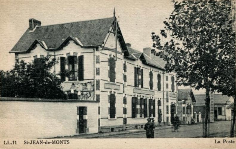 Saint-Jean-de-Monts (Vendée) La poste CPA