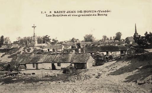 Saint-Jean-de-Monts (Vendée) Les bourrines, le calvaire CPA